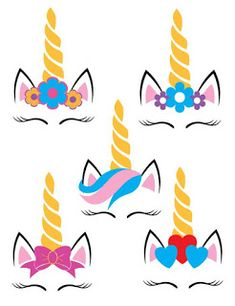 Five Unicorns SVG example image 2 Diy Party Crafts, Craft Party, Diy And Crafts, Crafts For Kids, Beach Party Games, Backyard Party Games, Unicorn Crafts, Pony Party, Unicorn Birthday Parties