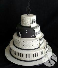 Music Wedding Cake Take some idea for Spencer's 17 Music Wedding Cakes, Music Themed Cakes, Music Cakes, Music Birthday Cakes, Pretty Cakes, Cute Cakes, Beautiful Cakes, Amazing Cakes, Bolo Musical