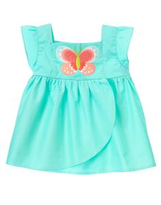 Butterfly Smock Top at Gymboree Collection Name: Butterfly Catcher
