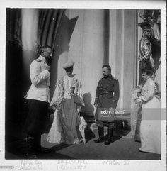 Nicholas Nikolaievich, Empress Alexandra (1872-1918) and Nicholas II (1868-1918).