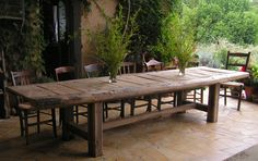 Gorgeous Lavalette dining table - reclaimed Oak and Poplar (by Christian Gaze)