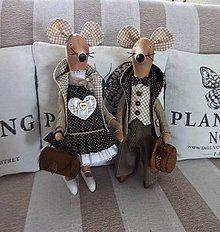 Bábiky - Myšiak džentlmen - 7784803_ Teddy Bear, Handmade Dolls, Toys, Animals, Decorations, Activity Toys, Animales, Animaux, Clearance Toys