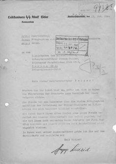 Dankesbrief Sepp Dietrich's an Jochen Peiper, Adjutant bei Reichsführer SS Heinrich Himmler.