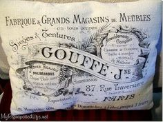 Paris Pillow - Printed Fabric - The Graphics Fairy
