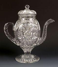 Rare cut glass coffee pot, ca. 1900