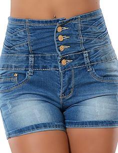 Damen Hotpants (Hochschnitt) No 13203, Größe:XS 34