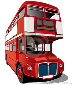 Detailed ial image of symbol of London - best-known of England double-decker bus - Routemaster, isolated on white background. Contains gradients and blends. Climbing Everest, Bus Art, Routemaster, London Pictures, Double Decker Bus, London Bus, Wood Plaques, Steam Engine, Automotive Design