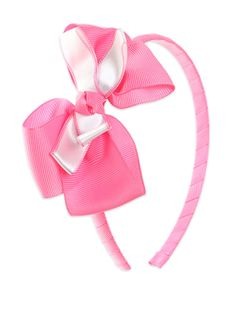 Pink Hairband With Knotted Bow