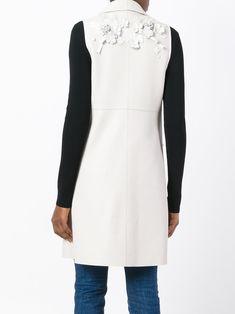 Fendi Floral Appliqué Sleeveless Jacket - Farfetch