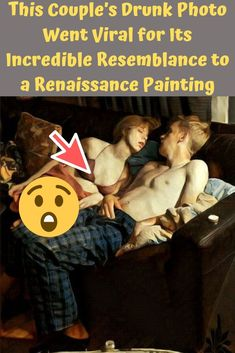 A photo of a half-naked couple sleeping on a couch is going viral because it looks scarily like a painting from the Renaissance era. It's actually incredible, and you have to see it to believe it. Couple Sleeping, Renaissance Era, Oil Shop, Renaissance Paintings, Crazy People, Hilarious, Funny, Inspire Others, Craft Stick Crafts