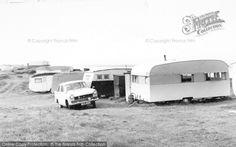 Bluebird Sunparlor at Ocean View Caravan Site, Brean from Francis Frith Vintage Caravans, Vintage Campers, Vintage Trailers, Citroen Ds, Peugeot, Caravan Pictures, British Holidays, Camper Caravan, Bluebirds
