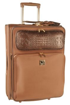 Diane Von Furstenberg Rolling Suitcase In Bronze - love the detail on the front pocket, it makes such a difference!!!