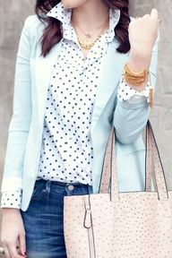 Print under a solid blazer or cardi, with jeans and Great accesories