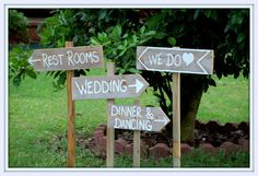 Country Cowgirl Wedding Signs with Stakes by TRUECONNECTION, $99.00 -- this would be easy to make your own though.