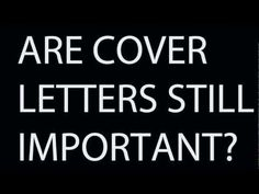 Are cover letters still important? Cv Cover Letter, Cover Letters, Job Hunting Tips, Social Media Video, Job Interviews, Diy Crafts For Gifts, What Really Happened, Landing, Helpful Hints