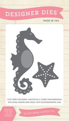 Echo Park Paper Company EPSDie6 Starfish and Waves Die Scrapbook by Echo Park Paper