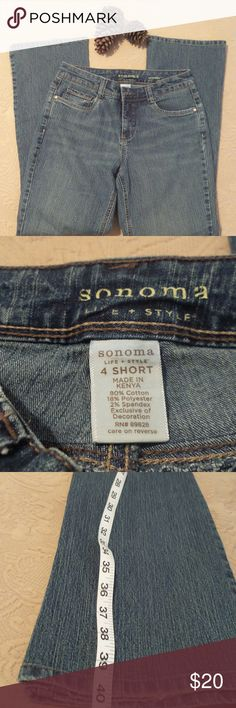 Sonoma Life & Style jeans 80% Cotton;18%Polyester;&2% Spandex Sonoma Jeans Boot Cut