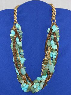 """Kenneth Cole """"Urban Turquoise"""" Torsade Necklace"""
