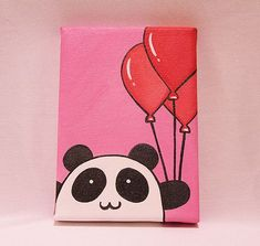 how to paint pink panda If you have a little one who is a blooming artist, this article carries kids friendly canvas painting ideas as well. I will be discussing Easy Canvas Painting Ideas for Beginners. Kids Canvas Art, Small Canvas Paintings, Small Canvas Art, Nursery Paintings, Cute Paintings, Easy Canvas Painting, Canvas Painting Tutorials, Painting Art, Panda Painting