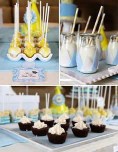 darling desserts at this Royally Sweet 1st bday party for a little prince!