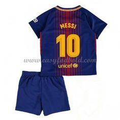 Barcelona Børn Fodboldtrøjer 2017-18 Lionel Messi 10 Hjemmetrøje