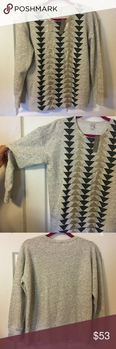 NWT! J.Crew Metallic Arrow Pull on New With Tags ! J. Crew French Terry  Pull on is a must have for Fall ! Very trendy and cute plus comfortable . J. Crew Tops Tees - Long Sleeve