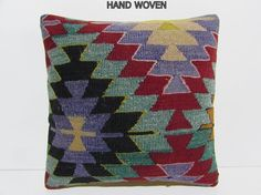 kilim pillow 18x18 cottage kilim pillow by DECOLICKILIMPILLOWS