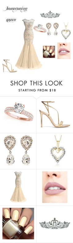 """homecoming queen"" by jandrade218 ❤ liked on Polyvore featuring Gianvito Rossi, Dolce&Gabbana, Jewelonfire, Jouer and Kate Marie"
