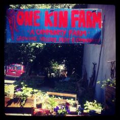 One Kin Farm At One Kin, we want to compost our food scraps to keep trash off our streets and make compost to green our garden and our neighborhood.