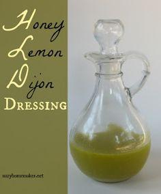 suzyhomemaker: honey lemon dijon dressing