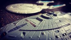 New photo online #ussvoyager meets #ussenterprisee - #startrek #eaglemoss #startrekeaglemoss Hope you like it