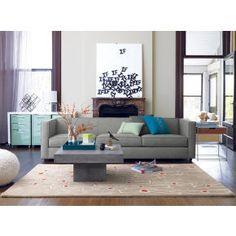 club grey 3 seater sofa in all furniture cb2 cb2 bedroom furniture
