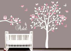 Nursery wall decal tree wall sticker  14 par ArtHomeDecals sur Etsy, $115,00