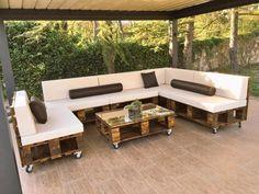 sofa de pallets sob medidas com os acessorios sob encomendas  valor por módulo de 2 lugares