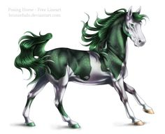 Free lineart: Posing horse by BronzeHalo.deviantart.com on @deviantART