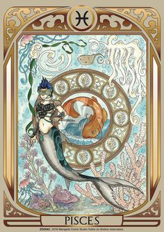 Print art with Pisces male of ZODIAC project developed by Mangarts Comic Studio. Zodiac Signs Astrology, Zodiac Art, Zodiac Star Signs, Zodiac Horoscope, Tarot, Pisces Fish, Major Arcana Cards, My Photo Gallery, Fantasy Characters