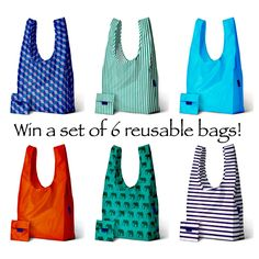 Carry this set of tote bags along with you in your bag or car, so you're always prepared!