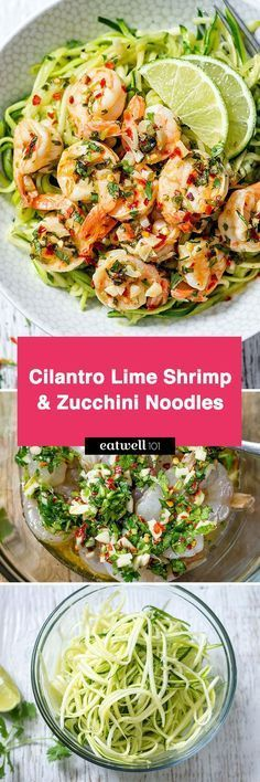 This cilantro lime shrimp with zucchini noodles is simply drool worthy. Lime and cilantro combo makes for a full-flavored dish that tastes like restaurant quality, while only taking minutes to prep…