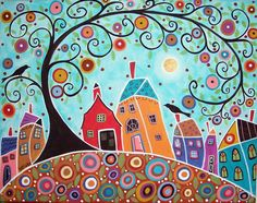 I love the colours of Karla Gerard.