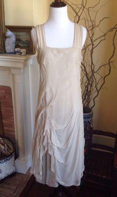 Lilith des France Ivory Silk Lagenlook Dress Womens Wedding Sleeveless 100% Silk #Lilith #Sheath #Cocktail