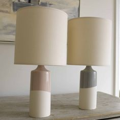 STOKEY LAMP We absolutely adore the way each lamp is dipped by hand into the glaze to ensure that no two are ever quite the same. Made with love for us in Stoke-on-Trent in a wonderful pottery. The glazes have a gorgeous chalky, hand-applied look.