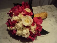 Ibiza Bougainvillea & White Roses Bougainvillea, White Roses, Ibiza, Bouquet, Table Decorations, Bridal, Wedding, Home Decor, Wedding Bouquets