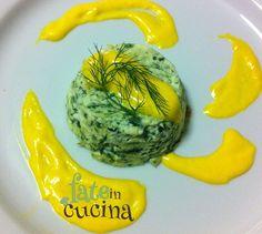 Soufflè di Caprino e Spinaci con Crema al Parmigiano- #ricettasoffice. Io partecipo: provaci anche tu. Regolamento su www.ausl.pc/ricettasoffice