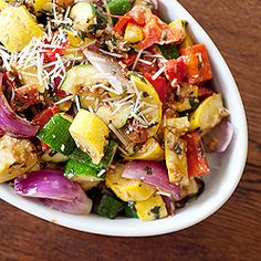 Grilled Vegetables with Basil Pecan Pesto is a great side for any grilled dinner.