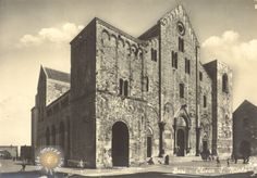 1959 - Bari -  Chiesa S.Nicola - BiancoENero, BlackWhite, BN, BW, cartolina, chiesa, church, monumento, postcard, vintage