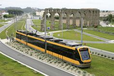 MP Flexity Swift / Vila do Conde — Trainspo Rail Transport, Public Transport, Train Vacations, Eco City, Rail Train, Light Rail, Transportation, Tourism, Around The Worlds