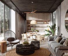 Un appartement maison en tons grisés
