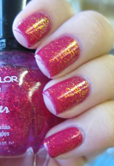 #Kleancolor - Chunky #Holo Fuchsia #nailpolish - repinned by www.naildesignshop.nl