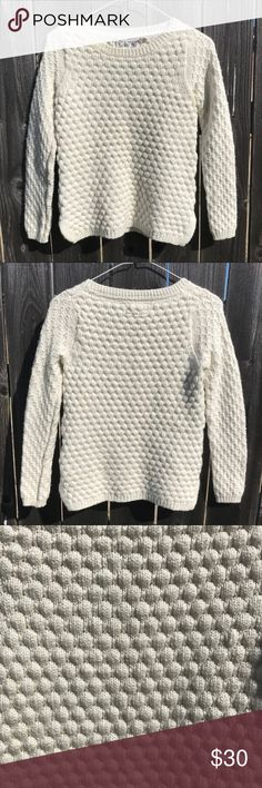 Anthropologie Wool Sweater Gently worn, good condition! Field Flower from Anthropologie. Beautiful wool and knitted design! Anthropologie Sweaters Crew & Scoop Necks