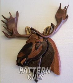 Pattern of A 'MOOSE' Intarsia by kennbennett on Etsy